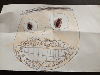 """Daddy"" (2013) Crayon and ink on paper, by Sofie (5)"